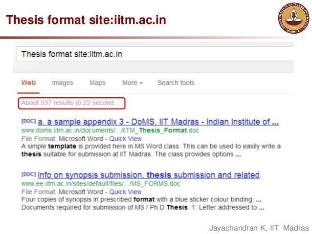 iitm ms thesis format