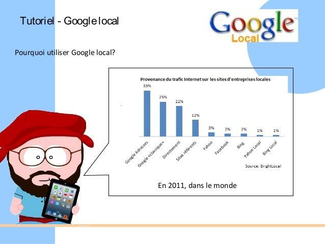 Tutoriel - Google localPourquoi utiliser Google local?                                  En 2011, dans le monde