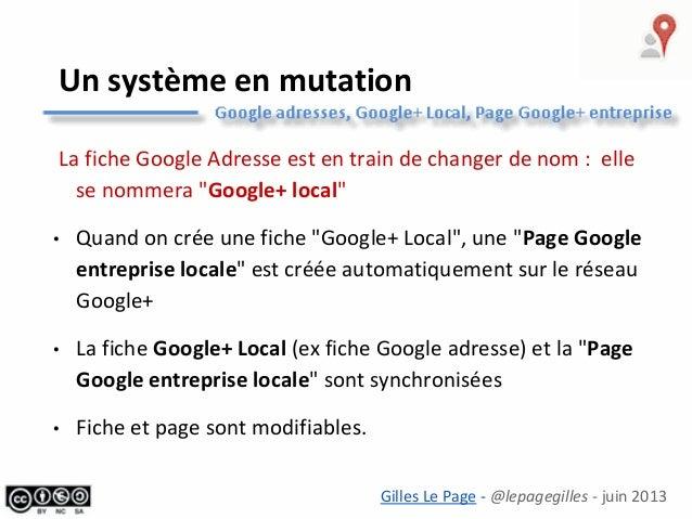Google+Local pour mon entreprise (tourisme) Slide 3