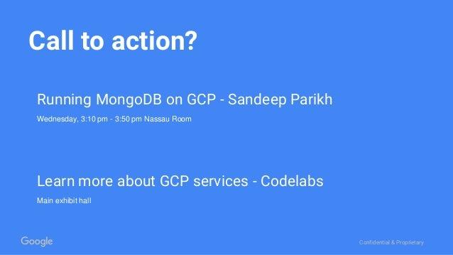 MongoDB World 2016: Lunch & Learn: Google Cloud for the Enterprise