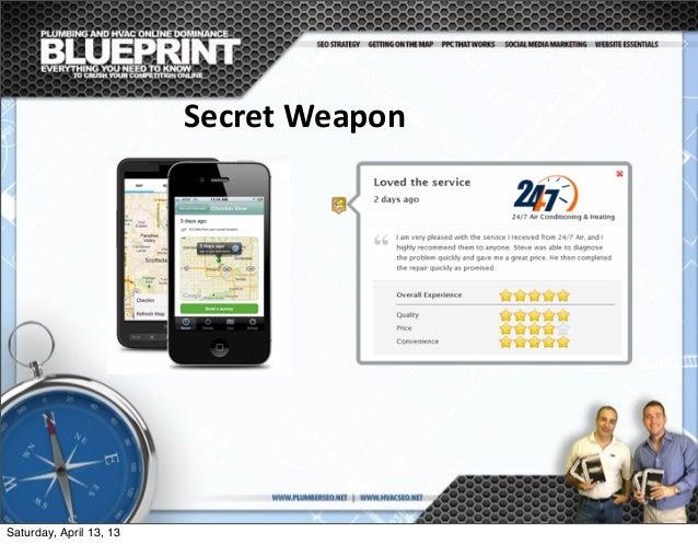 Secret  Weapon Saturday, April 13, 13