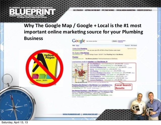 Why  The  Google  Map  /  Google  +  Local  is  the  #1  most   important  online  marke@ng  ...