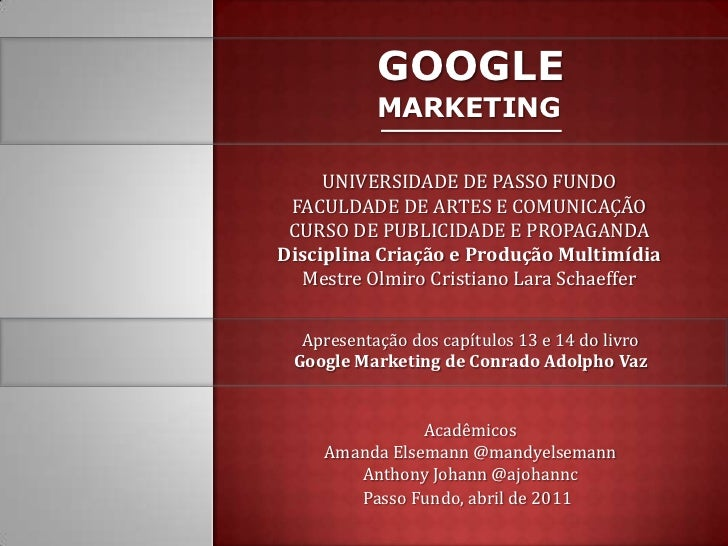 Google Marketing - Conteúdo In Site e Off-Site