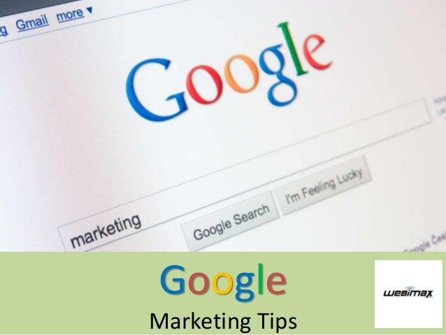 Google Marketing Tips