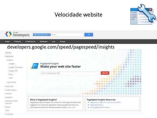 Vasco Marques - Profissional Certificado Google – www.marketingdigital360.net Velocidade website developers.google.com/spe...