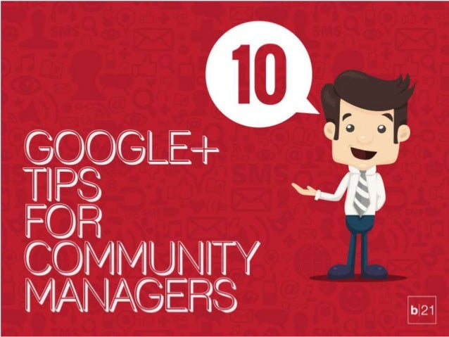 Google media tips for community managers