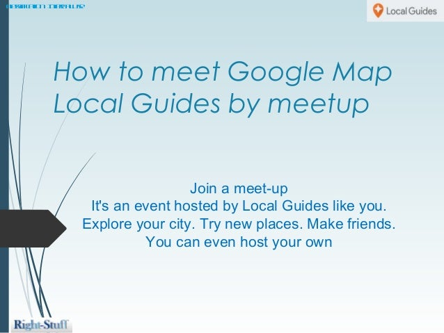 How to use Google meetup