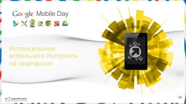 Использованиемобильного Интернетана смартфонах                       15