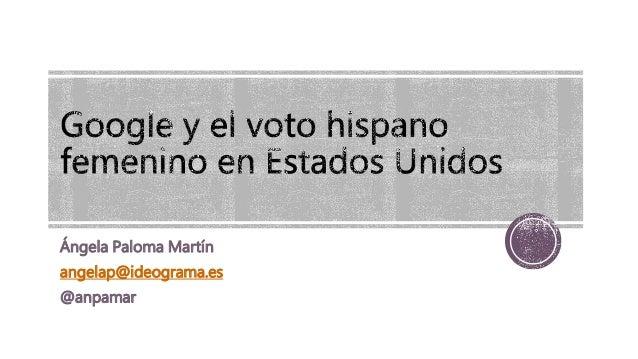 Ángela Paloma Martín angelap@ideograma.es @anpamar