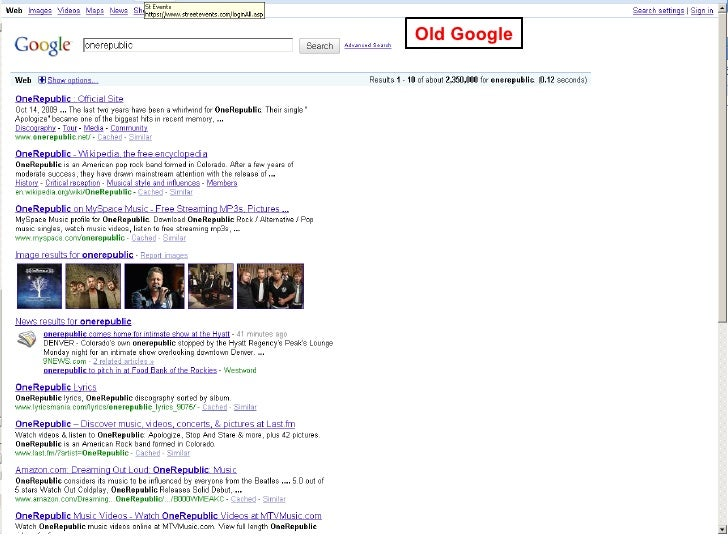 Old Google