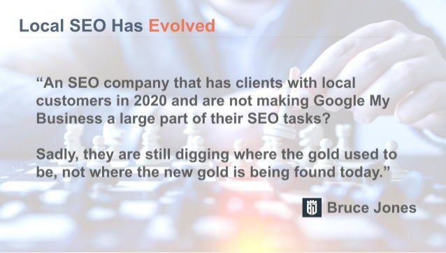 Google my business optimization by bruce jones seo consulting