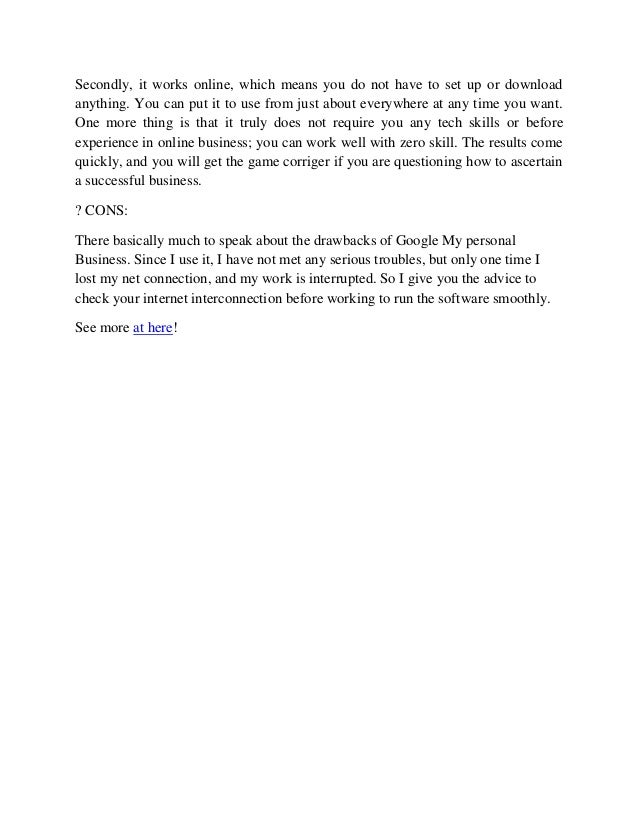 Google review business page