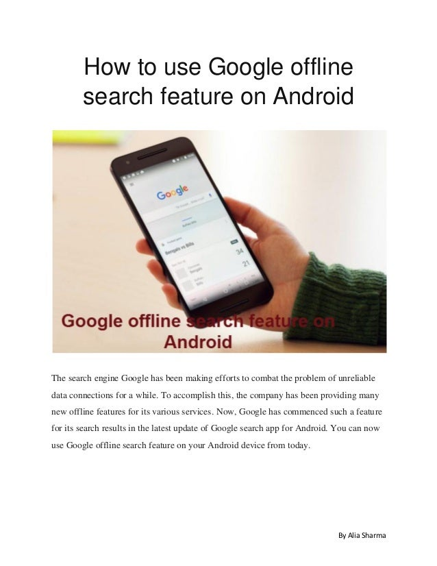 Google offline search feature on android