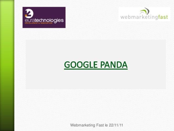 Webmarketing Fast le 22/11/11