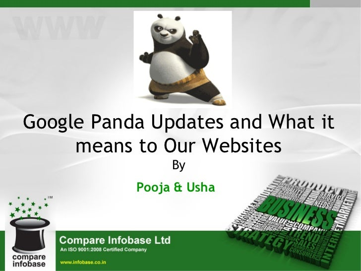 Google Panda Updates and What it means to Our Websites By Pooja & Usha