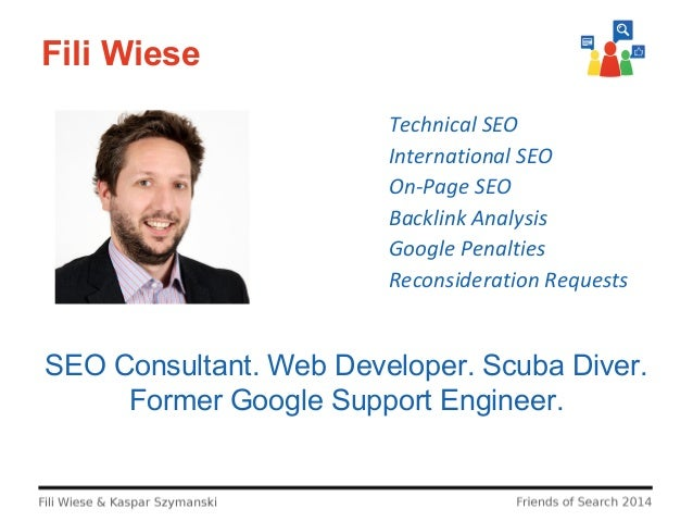 Fili Wiese Technical SEO International SEO On-Page SEO Backlink Analysis Google Penalties Reconsideration Requests  SEO Co...