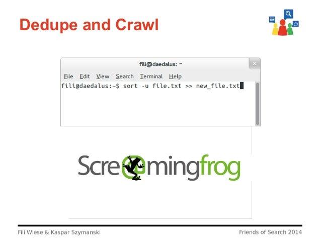 Dedupe and Crawl