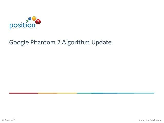 www.position2.com© Position2 Google Phantom 2 Algorithm Update