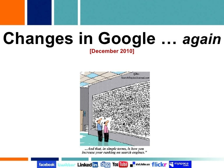 Changes in Google …  again [December 2010]
