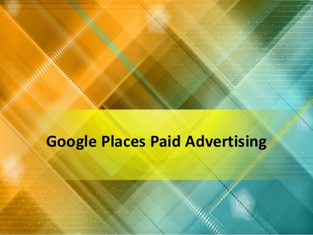 Google Places Paid Advertising