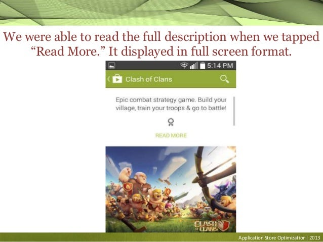 """Application Store Optimization