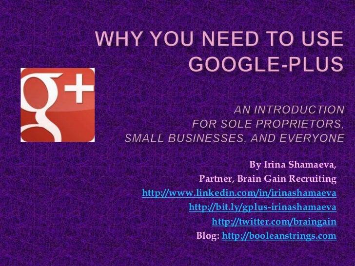 By Irina Shamaeva,            Partner, Brain Gain Recruitinghttp://www.linkedin.com/in/irinashamaeva         http://bit.ly...
