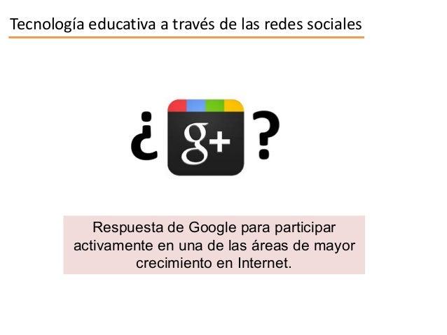 Aplicaciones didácticas de Google plus Slide 2