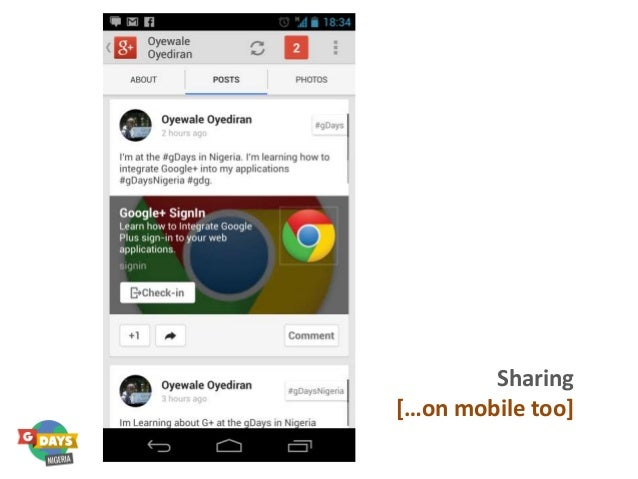 Yes, we could Sharing […on mobile too]