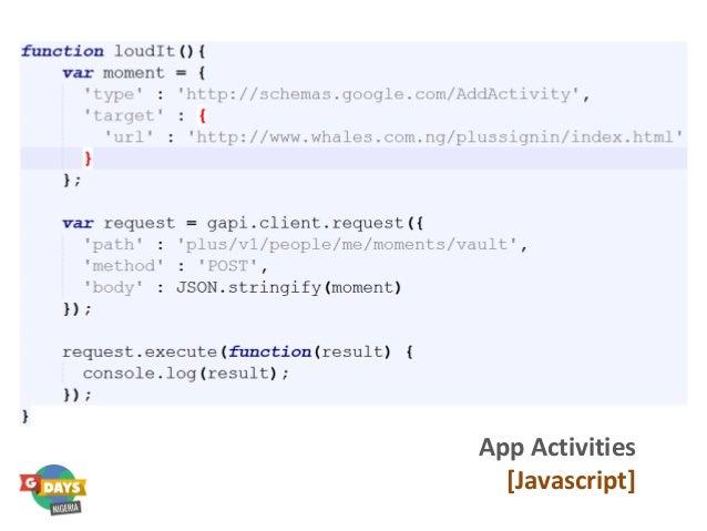 App Activities [Javascript]