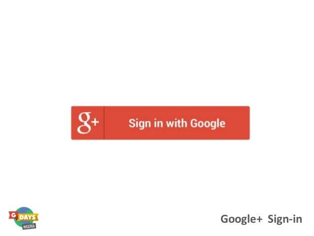 Google+ Sign-in