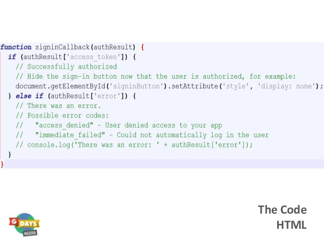 The Code HTML