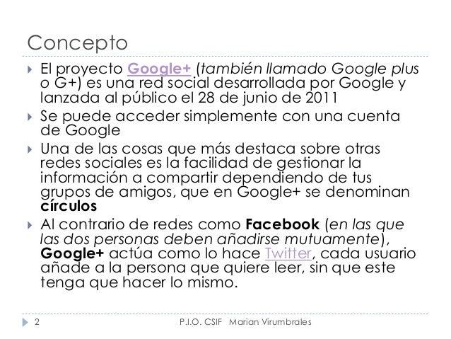 Google plus Slide 2