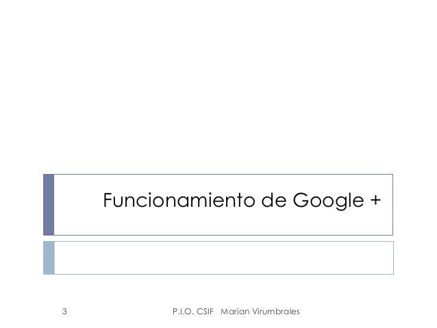 Google plus Slide 3