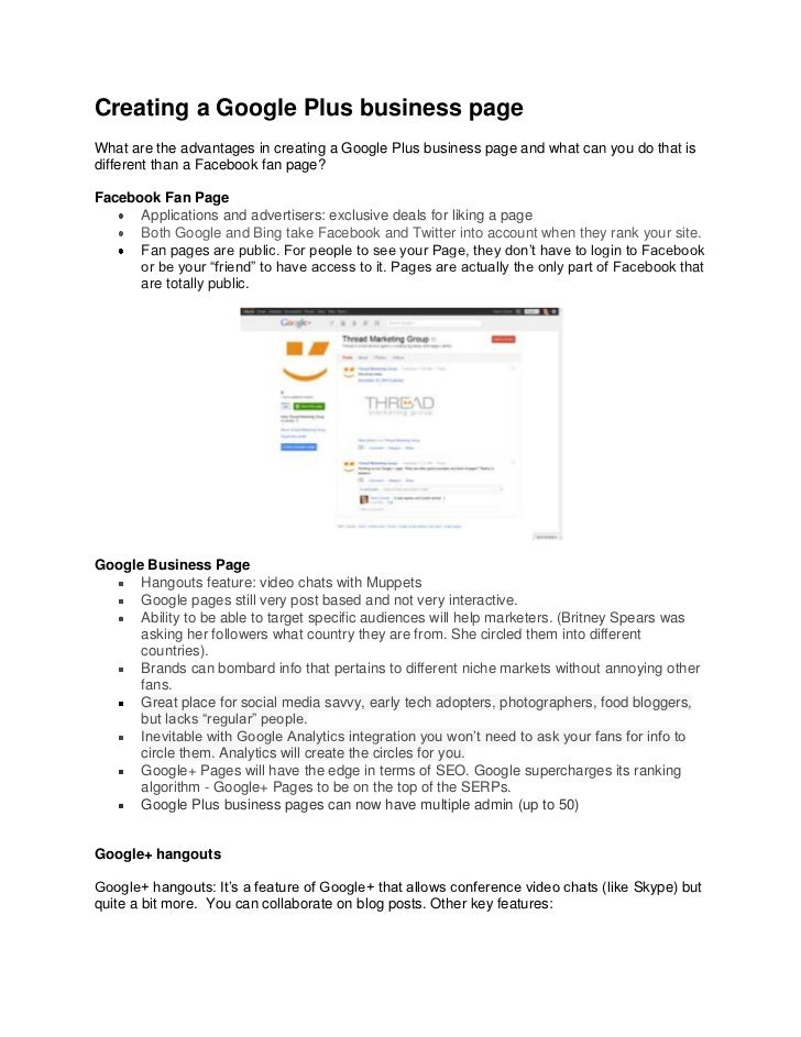 Creating a Google Plus business pageWhat are the advantages in creating a Google Plus business page and what can you do th...