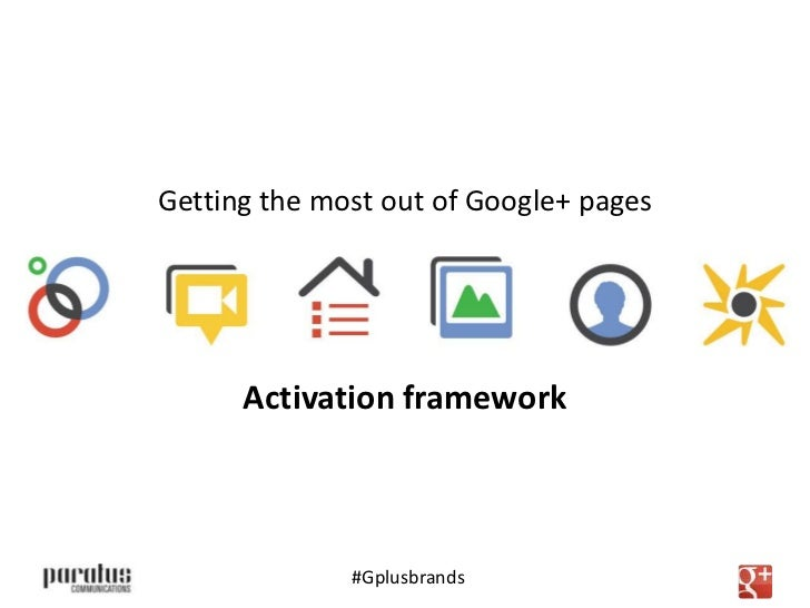 Getting the most out of Google+ pages      Activation framework      The good, the bad and the ugly              #Gplusbra...