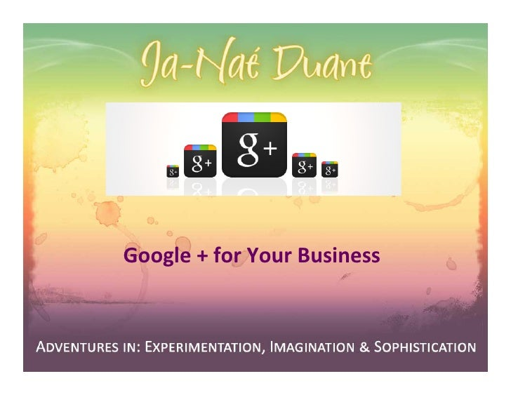 Google + for Your Business