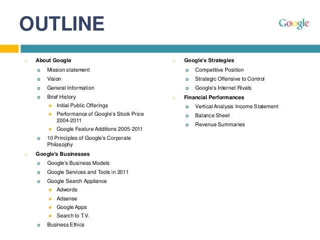 google mission statement 2011