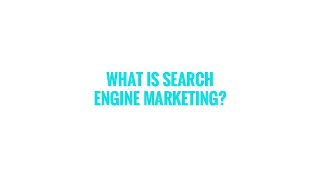 how to start search engine marketing