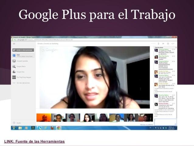 Google Plus para el TrabajoLINK: Fuente de las Herramientas