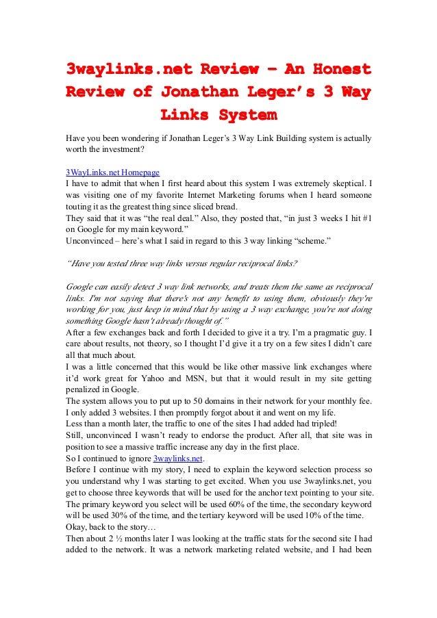 3waylinks.net3waylinks.net3waylinks.net3waylinks.net ReviewReviewReviewReview –––– AnAnAnAn HonestHonestHonestHonest Revie...