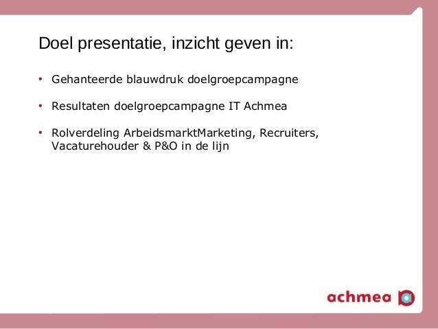 Google recruitment event (Doelgroepmarketing) Slide 2