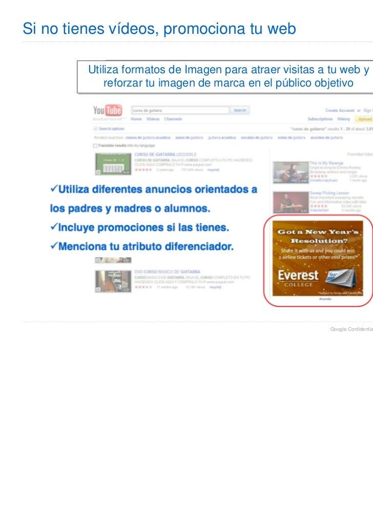 Si no tienes vídeos, promociona tu web         Utiliza formatos de Imagen para atraer visitas a tu web y             refor...