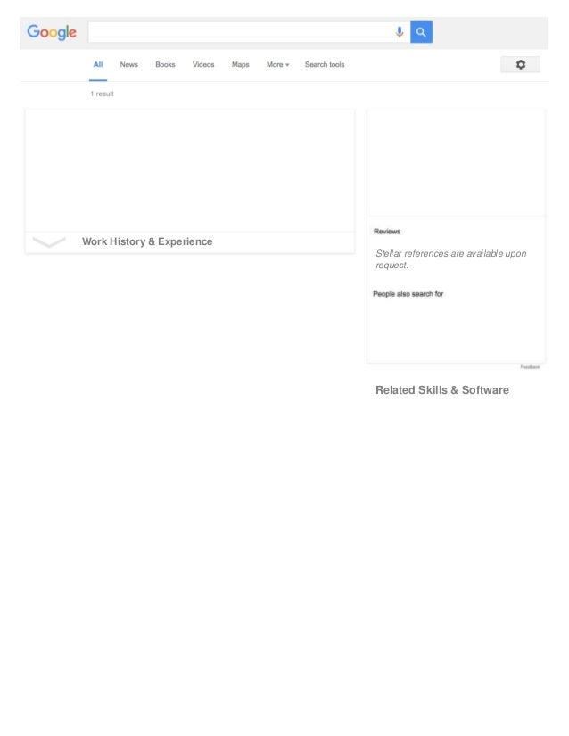 Free Google Resume Template  Google Resume Templates