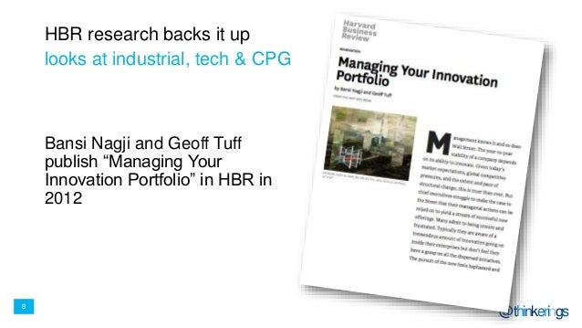 """8 @thinkerings HBR research backs it up Bansi Nagji and Geoff Tuff publish """"Managing Your Innovation Portfolio"""" in HBR in ..."""