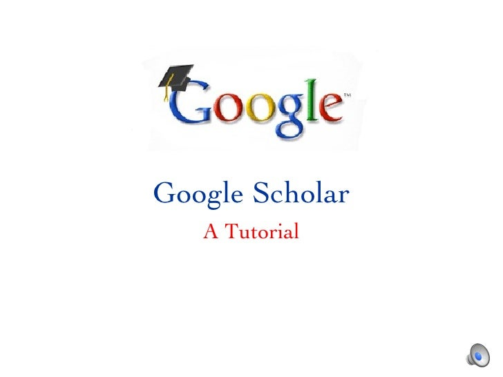 Google   Scholar A Tutorial