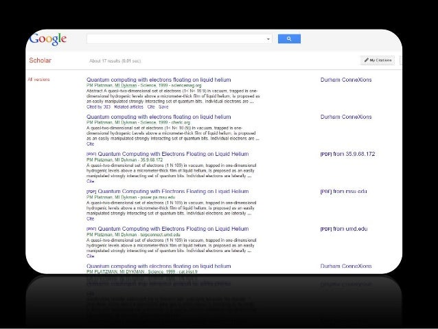 a comparison of google scholar and credoreference In november 2011, google released google scholar citations to all users, which assists scholars in tracking their citations on an individual level, google scholar citations may be the tool scholars prefer to use, instead of pop, to calculate their h-index.