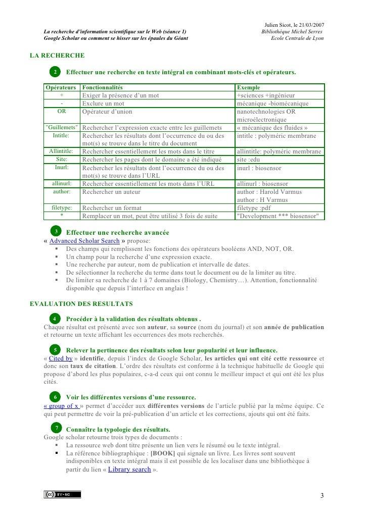 Julien Sicot, le 21/03/2007    La recherche d'information scientifique sur le Web (séance 1)                     Bibliothè...