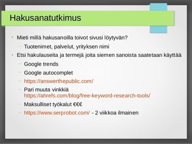 Google Indeksointi