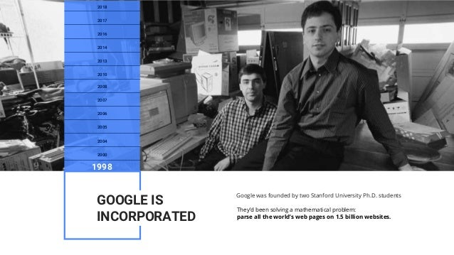 Google was founded by two Stanford University Ph.D. students They'd been solving a mathematical problem: parse all the wor...