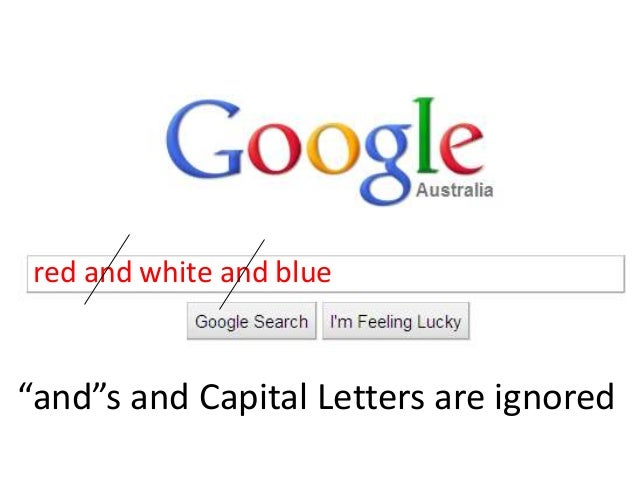 """red and white and blue """"and""""s and Capital Letters are ignored"""
